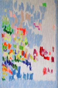 """o.T."",Acryl auf Leinwand, 135x85 cm, 2010"